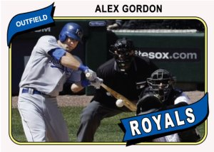 Alex Gordon 1980 Topps custom card