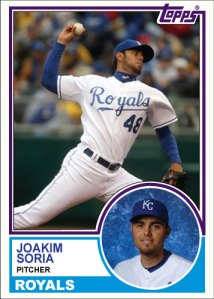 History Of Joakim Soria 1983 Topps custom card