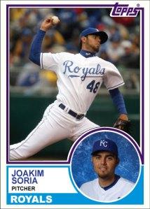 History Of Joakim Soria 1983 Topps custom card