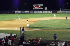 A shot of the St. Joe Mustangs playing at Phil Welch Stadium from 2010.