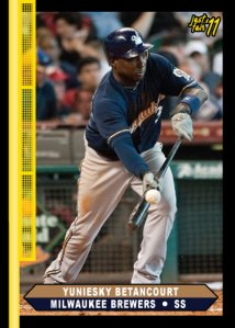 Brewers Yuniesky Betancourt custom card