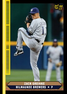 Brewers Zack Greinke Just Fair custom card