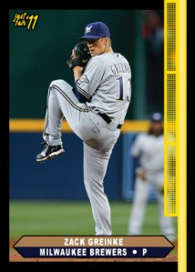 Brewers Zack Greinke 2011 Just Fair custom card