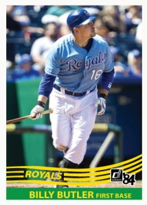 Billy Butler 1984 Donruss custom card
