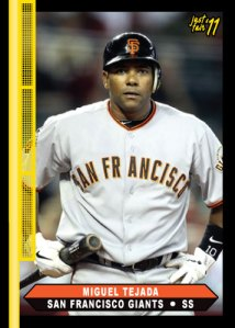 Giants Miguel Tejada custom card