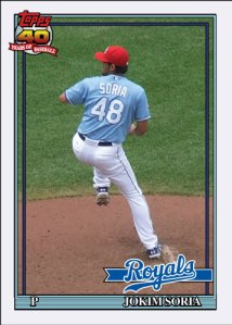 History Of Joakim Soria 1991 Topps custom card