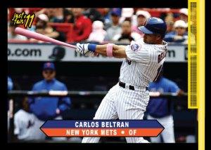 Mets Carlos Beltran 2011 Just Fair Pink Bat