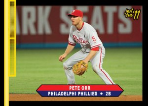 Just Fair 2011 Phillies Pete Orr cutom card