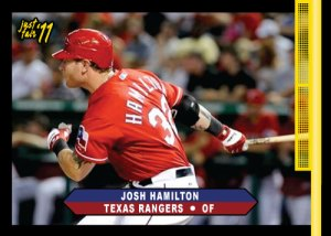 Rangers Josh Hamilton 2011 Just Fair custom card