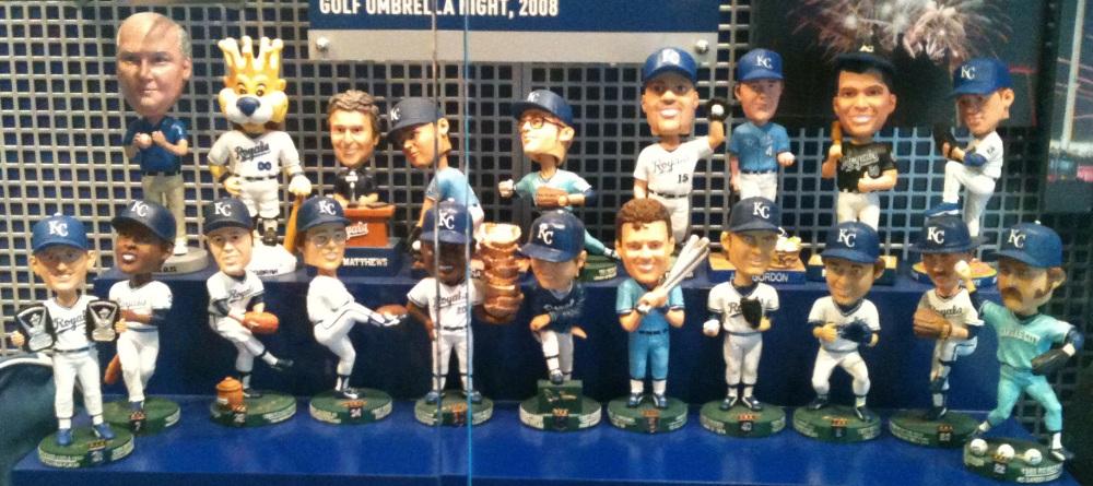 Kansas City Royals stadium give away bobbleheads through 2010