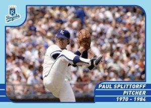 Royals Greats Paul Splittorff custom card