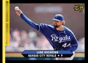 Royals Luke Hochevar 2011 Just Fair custom card