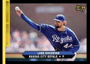 Royals Luke Hochevar 2011 Just Fair custom card