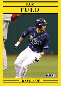Sam Fuld 1991 Fleer custom card of the day