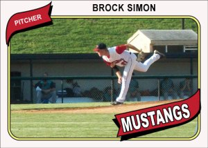 1980 Topps Mustangs Brock Simon