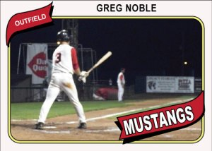 1980 Topps Mustangs Greg Noble