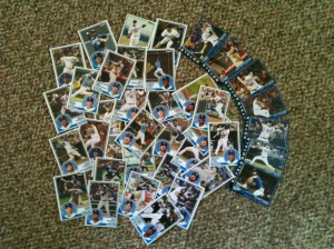 1983 Topps Royals printed custom cards