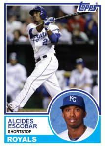 1983 Topps Royals Alcides Escobar