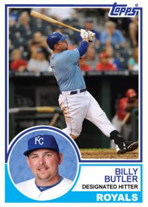1983 Topps Royals Billy Butler