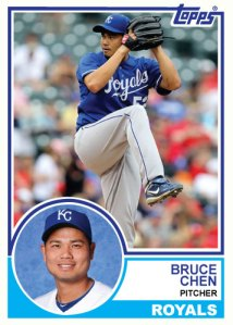 1983 Topps Royals Bruce Chen custom card