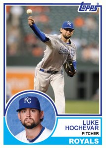 1983 Topps Royals Luke Hochevar custom card