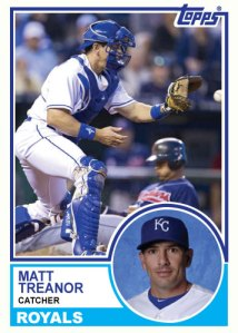 1983 Topps Royals Matt Treanor custom card