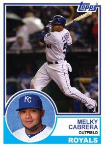 1983 Topps Royals Melky Cabrera