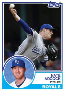 1983 Topps Royals Nate Adcock