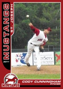 2011 Mustangs Cody Cunningham card