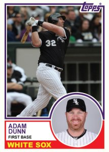 Adam Dunn 1983 Topps custom card