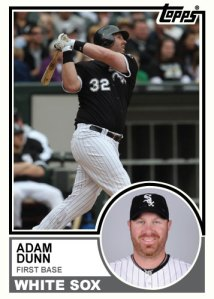 Adam Dunn 1983 Topps modified custom card