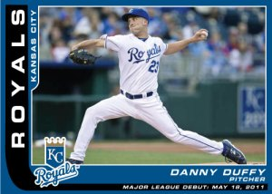 Danny Duffy Major League Debut custom card