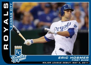 Eric Hosmer Major League Debut custom card
