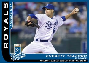 Everett Teaford Major League Debut custom card