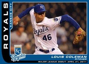 Louis Coleman Major League Debut custom card