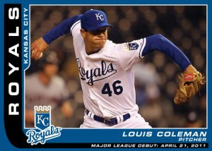 Louis Coleman Major League Debut custom card