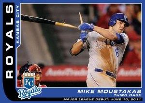 Major League debut Mike Moustakas custom card