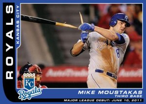 Major League debut Mike Moustakas custom card