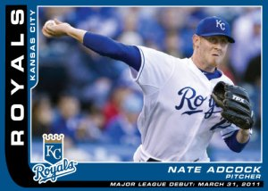 Major League Debut Nate Adcock custom card