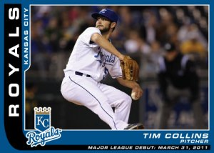 Tim Collins Major League debut card