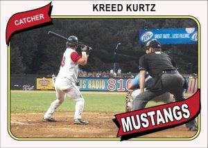 1980 Topps Mustangs Kreed Kurtz