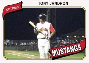 1980 Topps Mustangs Tony Jandron