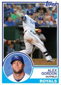 1983 Topps Royals Alex Gordon
