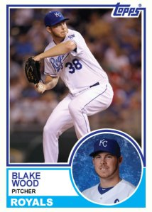 1983 Topps Royals Blake Wood custom card