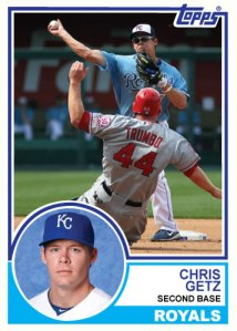 1983 Topps Royals Chris Getz
