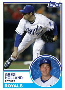 1983 Topps Royals Greg Holland custom card
