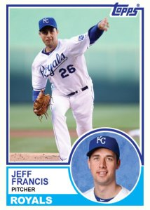 1983 Topps Royals Jeff Francis