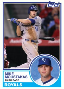 1983 Topps Royals Mike Moustakas