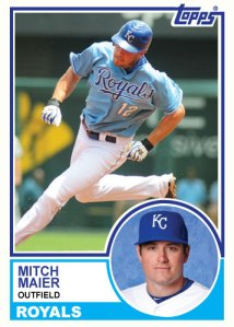 1983 Topps Royals Mitch Maier