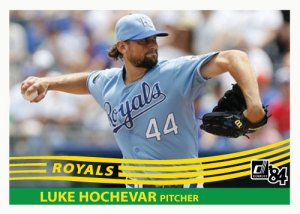 1984 Donruss Luke Hochevar custom card